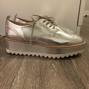Metallic platform Loafer sneakers